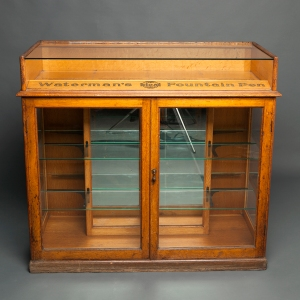 Antique Waterman counter display cabinet 1