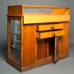 Antique Waterman counter display cabinet 12