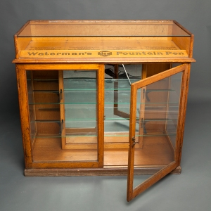 Antique Waterman counter display cabinet 4