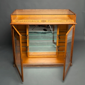 Antique Waterman counter display cabinet 5