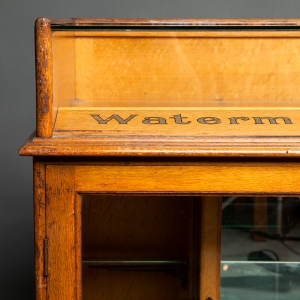 Antique Waterman counter display cabinet 6