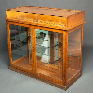 Antique Waterman counter display cabinet 8